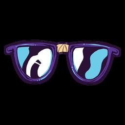 Ícone de desenho animado de óculos nerd