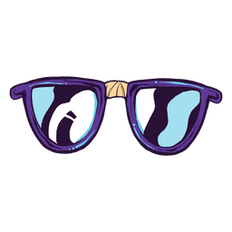 Nerd glasses cartoon icon