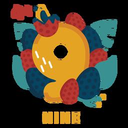 Número de huevos de nueve pájaros