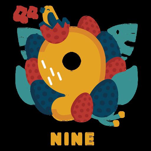 Nine bird eggs number Transparent PNG