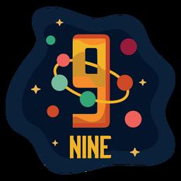 Nine planets number