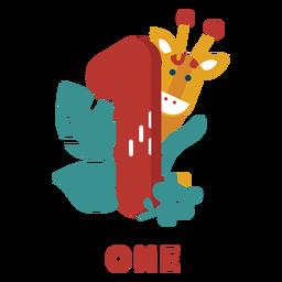 One giraffe number