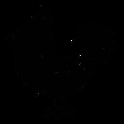Silueta de arte popular pájaro adornado