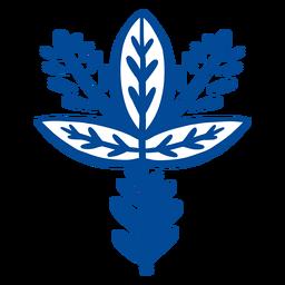 Elemento de arte folclórica floral ornamentada