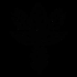 Ornamented floral folk art silhouette