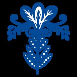 Elemento folk floral adornado