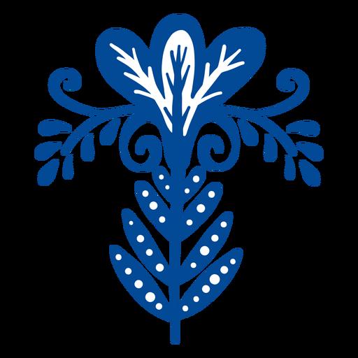 Elemento popular floral adornado.