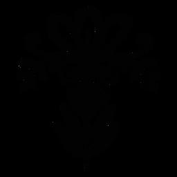 Ornamented floral folk silhouette