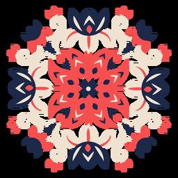 Elemento de padrão folclórico de flores ornamentadas