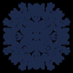 Silhueta de padrão ornamentado flor folk