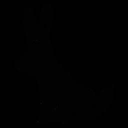 Silueta de arte popular de conejo adornado