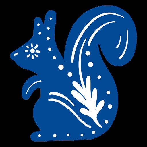 Ornamented squirrel folk art element
