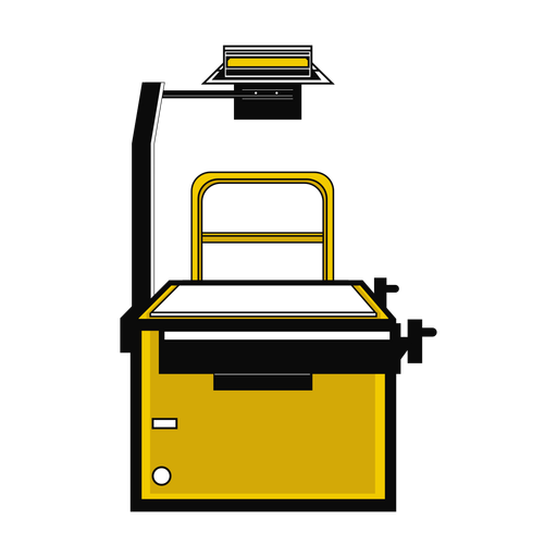 Retroproyector plano Transparent PNG