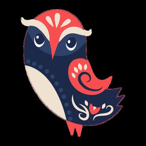 Owl bird folk art ornament Transparent PNG