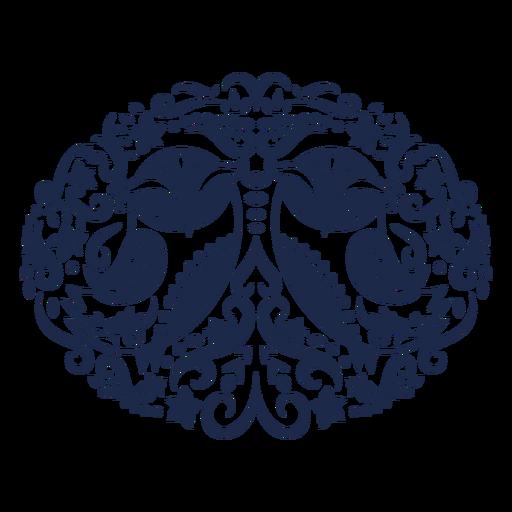 Owl folk art floral silhouette Transparent PNG