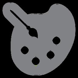 Paleta de tinta ícone plana