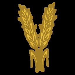Par de espigas de trigo doodle