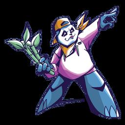 Panda pointing forward drawing