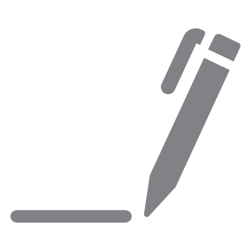 Pen drawing line flat icon Transparent PNG