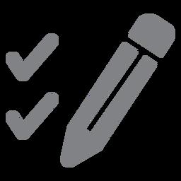 Icono plano lápiz y garrapatas