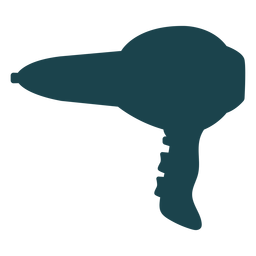Professional hair dryer silhouette