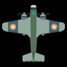 Icono de vista superior de avión de hélice