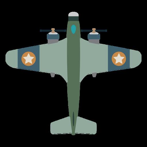 Icono de vista superior del avión de hélice Transparent PNG