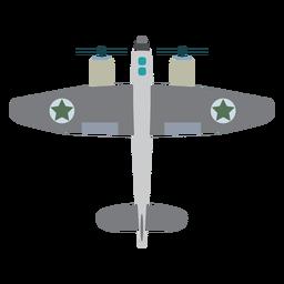 Icono de avión militar de hélice