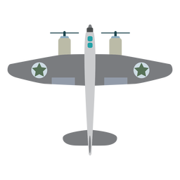 Propeller military aircraft icon