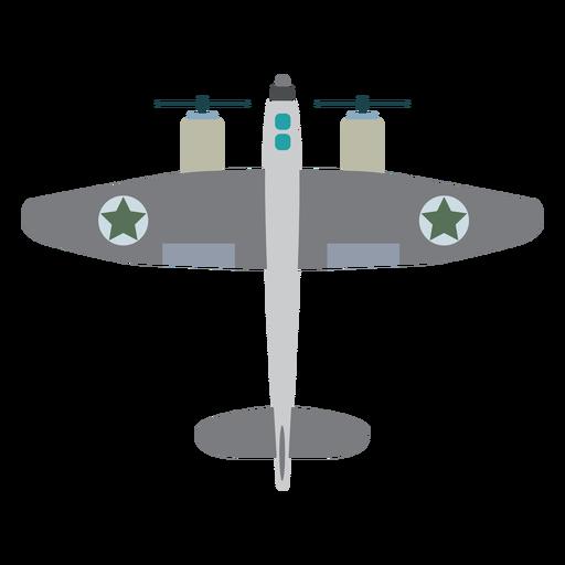 Icono de avión militar de hélice Transparent PNG