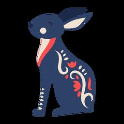 Adorno de arte popular de conejo