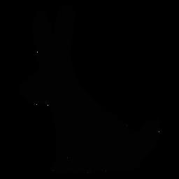 Silhueta de arte popular de coelho