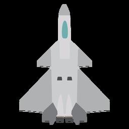 Icono de vista superior del avión Rafale