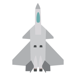 Rafale aircraft top view icon