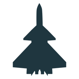 Rafale aircraft top view silhouette