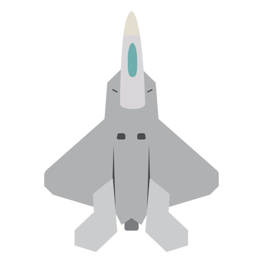 Icono de vista superior de avión Raptor Transparent PNG
