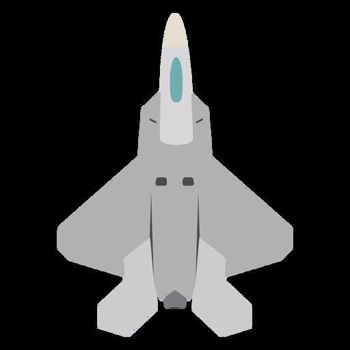 Icono de vista superior de avión Raptor