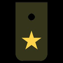Reclutar icono de rango militar
