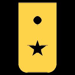 Reclutar silueta de rango militar