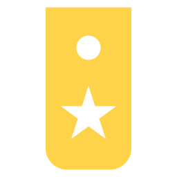 Recruit military rank silhouette
