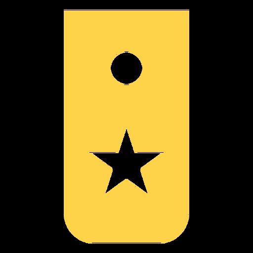 Reclutar silueta de rango militar Transparent PNG