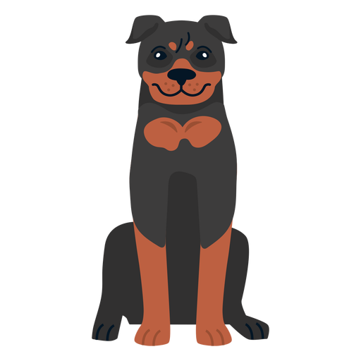 Rottweiler dog sitting Transparent PNG