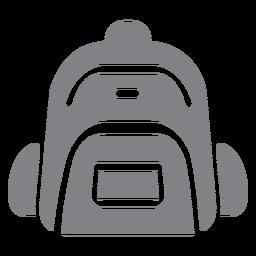 Escola mochila ícone plana escola