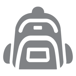 School backpack flat icon school