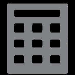 Calculadora escolar icono plana escuela