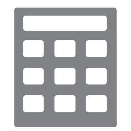 School calculator flat icon school