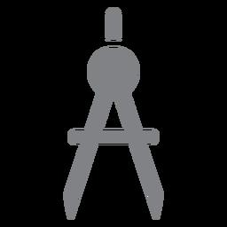 Escola bússolas ícone plana escola