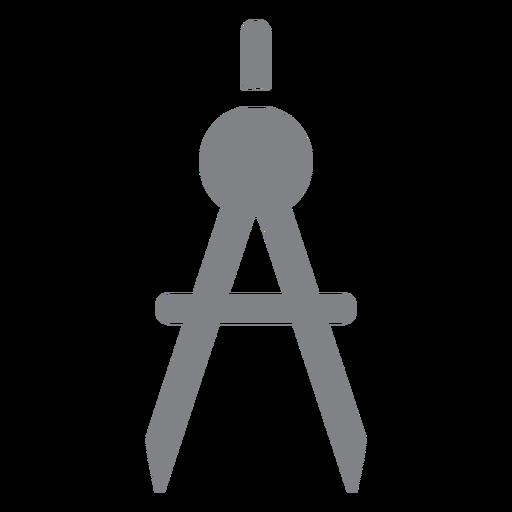 School compasses flat icon school