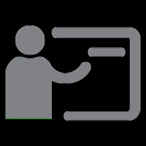 Icono plano de maestro de escuela Transparent PNG