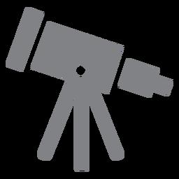 Icono plano de telescopio escolar